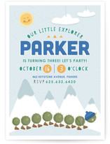 Little Explorer Children's Birthday Party Invitations