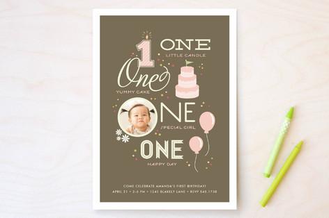 One Happy Day Children's Birthday Party Invitations