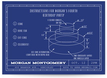Blueprint Details Children's Birthday Party Invitations