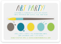 Paint Kit Children's Birthday Party Invitations
