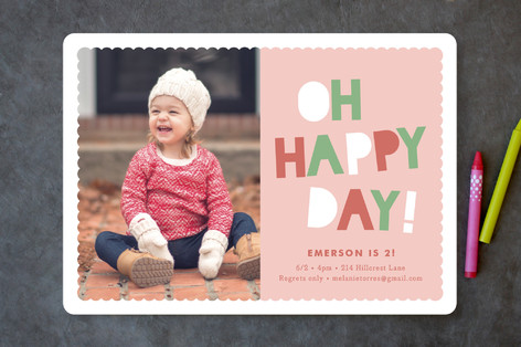 Happy Day Children's Birthday Party Invitations