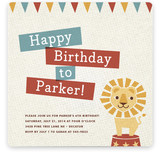 Paper Circus Children's Birthday Party Invitations