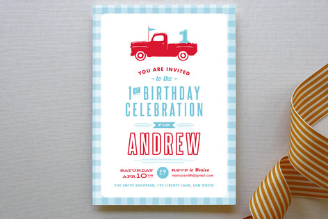 Americana Boy Children's Birthday Party Invitations