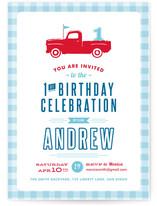 Americana Boy Children's Birthday Party Invitations