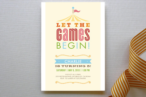 Let The Games Begin Children's Birthday Party Invitations