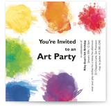 Artist's Palette Kids Party Invitations