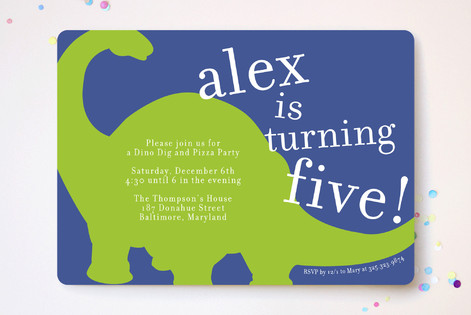 Bronto Party Children's Birthday Party Invitations