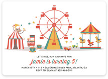 Theme Park Children's Birthday Party Invitations