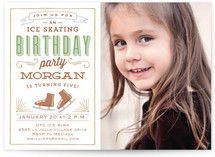 Vintage Label Children's Birthday Party Invitations