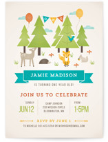 Wild Woodland Kids Party Invitations