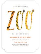Zoo Children's Birthday Party Invitations