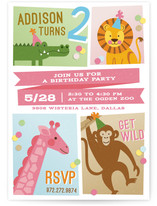 Zoo Fun Children's Birthday Party Invitations