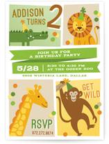 Zoo Fun Children's Birthday Party Invitations