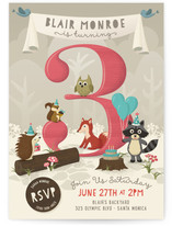 Woodland Party Children's Birthday Party Invitations