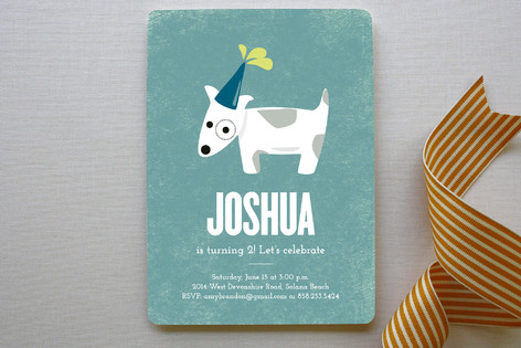 Spotted Puppy Children's Birthday Party Invitations