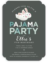 Pajama Party Children's Birthday Party Invitations