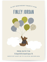 Gentleman Bear Kids Party Invitations