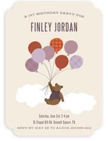 Gentleman Bear Children's Birthday Party Invitations
