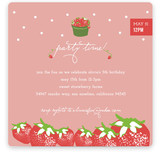 Strawberry Love Children's Birthday Party Invitations