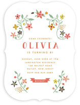 Botanical Affair Children's Birthday Party Invitations