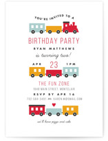 Birthday Train Children's Birthday Party Invitations