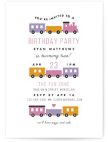 Birthday Train Kids Party Invitations
