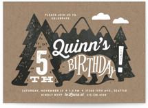 Northwoods Children's Birthday Party Invitations
