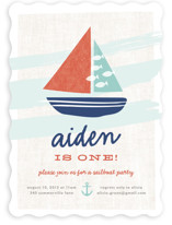 Regatta Race Kids Party Invitations