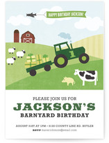 Barnyard Bash Kids Party Invitations