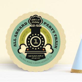 Vintage Rail Children's Birthday Party Invitations