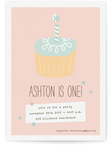 Simple Cupcake Children's Birthday Party Invitations