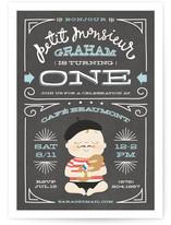 Petit Monsieur Children's Birthday Party Invitations