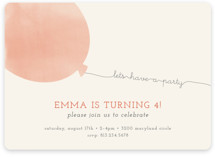 Simple Balloon Kids Party Invitations