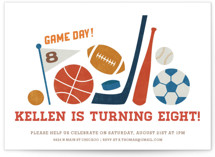 Game Day Children's Birthday Party Invitations