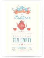 Garden Tea Kids Party Invitations