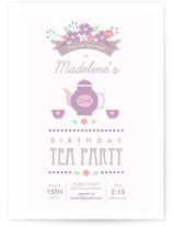 Garden Tea Children's Birthday Party Invitations