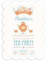 Garden Tea Children's Birthday Party Invitations