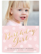 Glitter Girl Children's Birthday Party Invitations