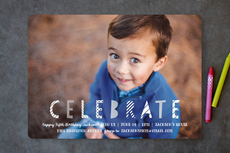 Paper Crafts Children's Birthday Party Invitations