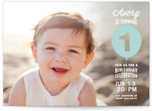 Stacked Balloon Children's Birthday Party Invitations