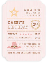 Yeehaw Kids Party Invitations