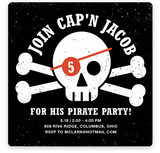 Pirate Paarrrrrrty Children's Birthday Party Invitations