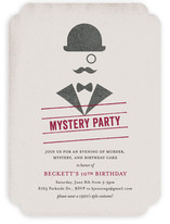 Whodunit Children's Birthday Party Invitations