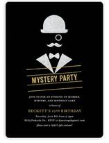 Whodunit Children's Birthday Party Invitations