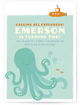 Underwater Explorer Children's Birthday Party Invitations