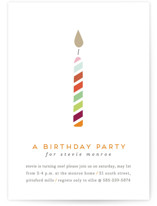 Lit Candle Children's Birthday Party Invitations