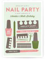 Birthday Mani Children's Birthday Party Invitations