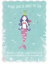 La Mermaid Children's Birthday Party Invitations