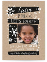 Wintery Children's Birthday Party Invitations