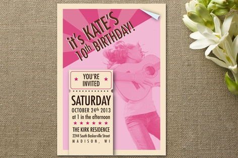 Concert Poster Children's Birthday Party Invitations